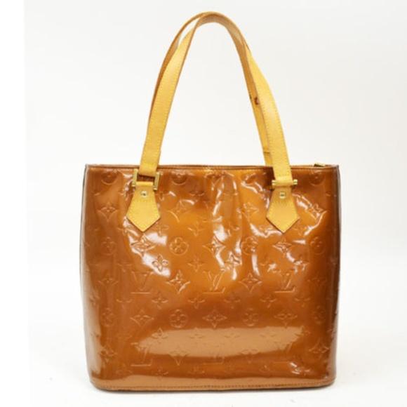 2df28a2f3eeb Louis Vuitton Handbags - LOUIS VUITTON Vernis Houston Tote Bag Bronz